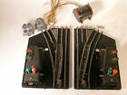 AMERICAN FLYER 688 O GAUGE PAIR of REMOTE CONTROL TRACK SWITCHES