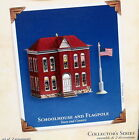 Hallmark 2003 SCHOOLHOUSE AND FLAGPOLE #5 in Town & Country Series Tin Ornaments