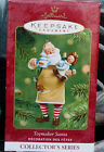 Hallmark 2001 TOYMAKER SANTA #2 in this Series Doll Tea Party Ornament