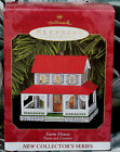 Hallmark 1999 FARM HOUSE #1 in the Town and Country Series Pressed Tin