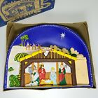 Vintage Glolite Plastic Illuminated Nativity Scene