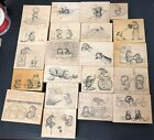 Retired Vtg 1997 House Mouse Rubber Stamp Lot of 21 Stampa Rosa
