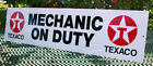 TEXACO MECHANIC ON DUTY SIGN GARAGE GAS STATION OIL CHANGE LUBE BRAKES ENGINE