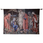 Nativity of Jesus Wall Hanging Aubusson Tapestry Antique Home Decor Living Room
