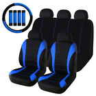 Universal Car Seat Covers Front Rear Head Rests Full Set Auto Seat Cover