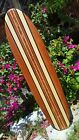 3ft SURFBOARD WALL ART Hawaiian surf beach hibiscus decor longboard tiki sun