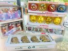 Lot Vintage Christmas Ornaments 3 Boxes JEWELBRITE Flocked Bells Glitter Boots