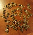 LOT OF 27 BRONZE TONE METAL SNAKE CHARMS