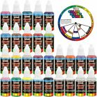 US Art Supply 24 Color Acrylic Airbrush Leather Shoe Paint Set Opaque Color