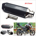 Motorcycle 38-51mm Black Carbon Fiber Exhaust Muffler Pipe DB Killer Dirt Bike