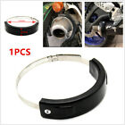 Motorcycle Scooter Oval Exhaust Protector Ring Cover Black 100mm-140mm Universal