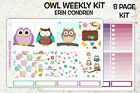 Owl Weekly Kit Planner Stickers  Classic Happy Planner  FREE SHIPPING