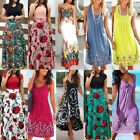 Women Floral Maxi Dress Prom Evening Party Summer Beach Casual Long Sundress USA