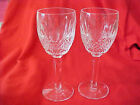 2 IRISH WATERFORD COLLEEN 6 1 2 IN TALL WINE GLASS SEAHORSE MARK MINT LAST 2