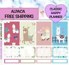 Alpaca Planner stickers Classic Happy Planner  Matte Removable Glossy