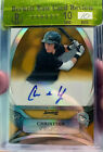 """2010 Bowman Sterling Christian Yelich Auto RC Gold Refractor #d 23 50 """"GEM MINT"""""""