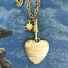 vtg Return to  heart pendant necklace North Star  Chatelaine assemblage