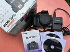 Canon EOS 500D 15.1MP Digital SLR Camera - Black - boxed with charger and cables
