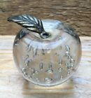 Fab Vintage Controlled Air Bubble Glass Paperweight Ornament Apple Design Retro