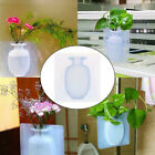 DIY Magic Rubber Silicone Sticky Flower Wall Hang Vase Container Floret Bottle