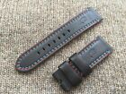 Genuine Officine Panerai Leather strap band 24mm America's Cup Black Red