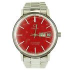 OMEGA VINTAGE SEAMASTER AUTOMATIC RED DIAL STAINLESS STEEL MENS WATCH