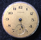 Vintage 1917 Waltham Model 1907 Watch Movement 310 Parts Gold Dial 3 0s 7j USA
