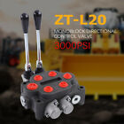 1pcs 2 Spool Hydraulic Directional Control Valve 3000PSI Tractors Double Acting