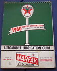 ORIGINAL VINTAGE 1960 TEXACO SERVICE STATION AUTOMOBILE LUBRICATION GUIDE BOOK