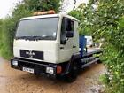 MAN 8153 75T LORRY RECOVERY TRUCK NEW WINCH ALLOY RAMPS LOW MILEAGE MOT EXEMPT