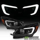 NEW Black 2013 2016 Ford Escape LED Tube Headlights Halogen Headlamps Left+Right