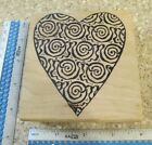 LARGE HEART WITH SPIRALS MW RUBBER STAMP MAGENTA