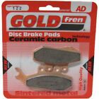 Front Disc Brake Pads for Malaguti Madison 3 250ie 2007 250cc  By GOLDfren
