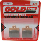 """Front Disc Brake Pads for MBK CW 50 Booster Naked 12 Inch 2009 50cc (12""""wheels)"""