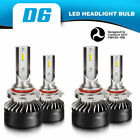 9005 9006 Combo LED Headlight High Low Beam 6500K White 120W 24000LM High Power