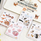 Cartton Animal Paper Stickers Anime Washi for Journal Planner Diary Decor