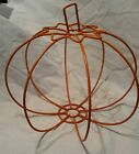 Pumpkin Orange Wire Halloween Decoration Outline