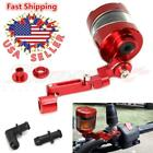 Brake Clutch Master Cylinder Fluid Reservoir Tank Oil Cup Motorcycle Red CNC New