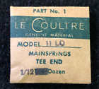 Genuine LeCoultre 11-LO Mainsprings Tee End Part No. 1