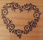 Heart Love 1988 PSX F 830 Rubber Wood Stamp Crafts 2x2