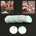 50pcs set 1 Inch Dia Round Metal Stamping Blanks for Jewellery Making Silver
