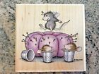 House Mouse Bounce Pin Cushion Stampabilities Rubber Stamp SEWING Craft Monica
