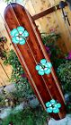 6ft SURFBOARD WALL ART Hawaiian surf beach hibiscus decor longboard tiki sun
