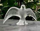 Lalique Chirping Swallow (Martinet Chanteur) Crystal Figurine Mint Flawless