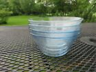 3 VTG Fire King Light Blue Glass Etched Design 5 oz Custard Dessert Cups Dishes