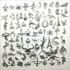 Antique Silver Charms Pendants Carfts Jewelry Findings DIY 101 Styles Option