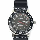 Nautica Mens Watch Diver Tech Black Indiglo 50 Meter Rotating Bezel Stainless