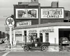 1940 TEXACO GAS STATION CAR WASH PHOTO Coca-Cola Camels OLD CARS Service Garage
