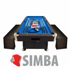 8Ft Pool Table Billiard VINTAGE BLUE indoor games with container benches