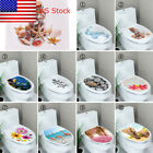 DIY Toilet Lid Seats Cover Wall Stickers Bathroom Decal Mural Home Decoration US